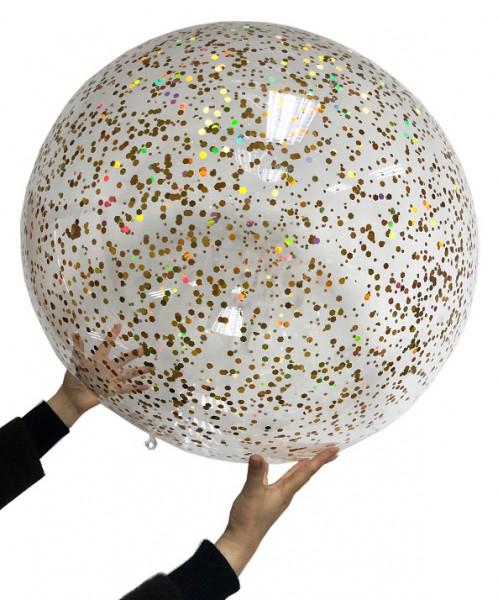 Fun Ballon Ball Jumbo - Glitzer