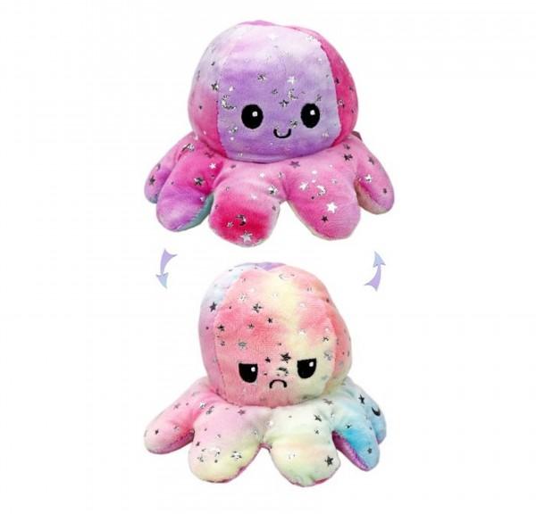 Octopus - GLITZER - Wendeplüsch - 20cm