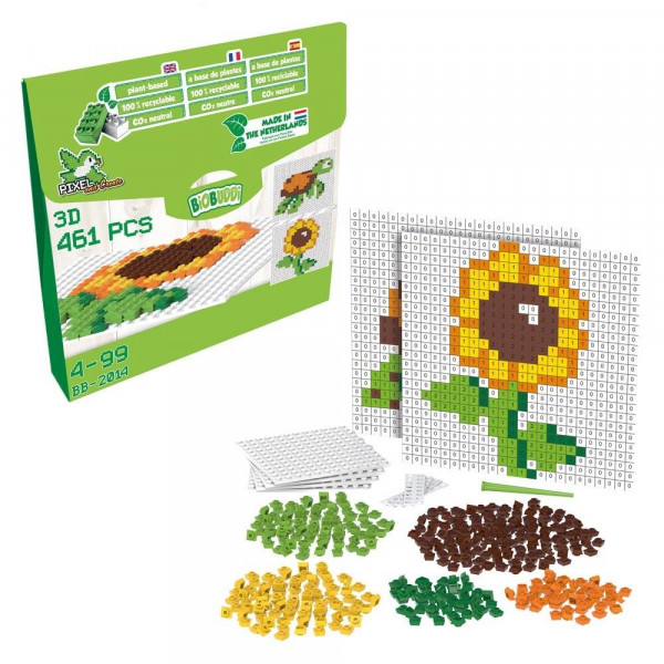 Pixel & Create Set - Blume & Schildkröte