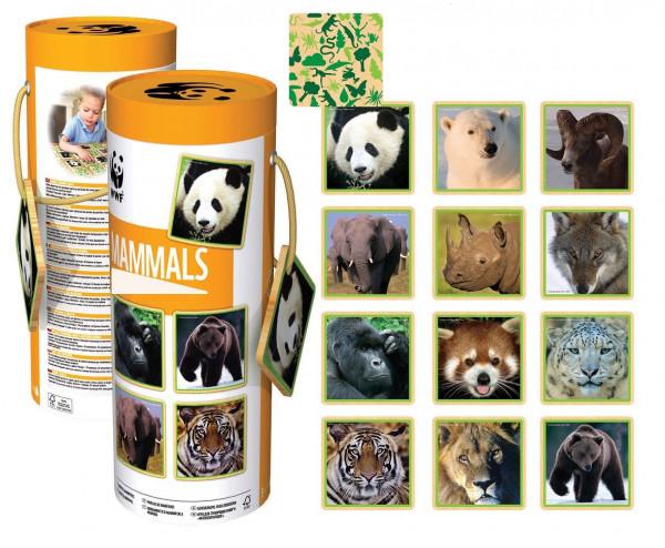 WWF - Memo-Spiel - 24 Teile - Säugetiere
