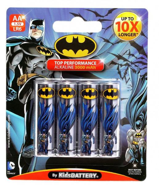 AA Batterien - 4 Stück - Batman Design