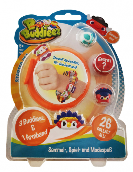 BBuddieez - 3 BBuddieez und 1 Armband