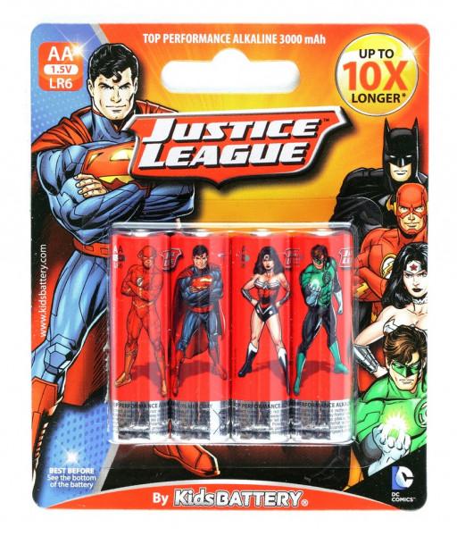 AA Batterien - 4 Stück - Justice League Design