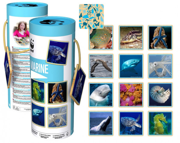 WWF - Memo-Spiel - 24 Teile - Meerestiere