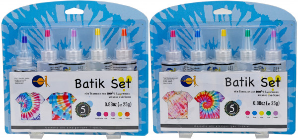 Batik Farben - 5er Set | Tie Die Kit