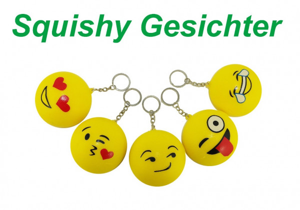 Antistress Emoji Schlüsselanhänger