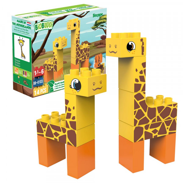 BiOBUDDi Bausteine Set Giraffen