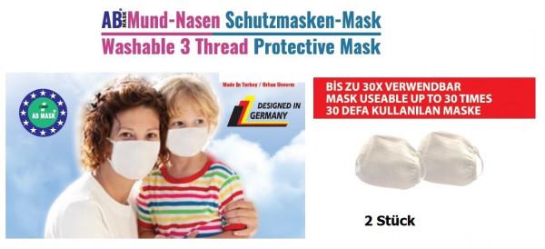 """Mund- und Nasenbedeckung """"waschbar"""" - 2er Set"""