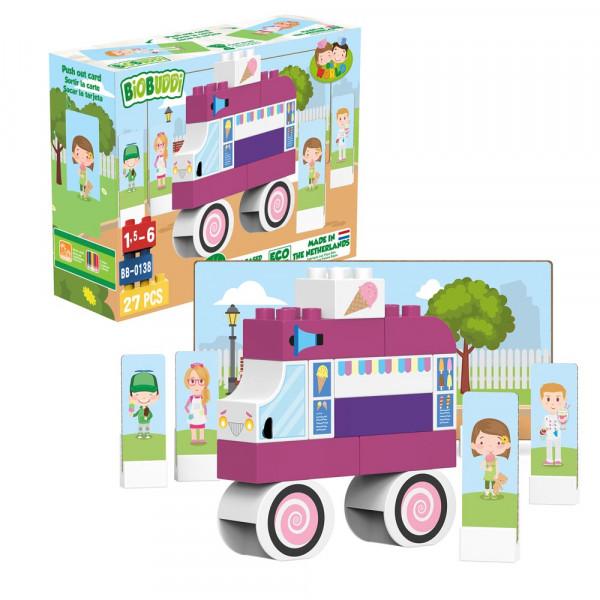 BiOBUDDi Bausteine Set Eiswagen