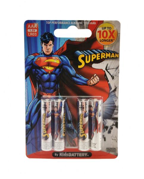AAA Batterien - 4 Stück - Superman Design