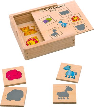 Schattenspiel Zootiere Holzspiel