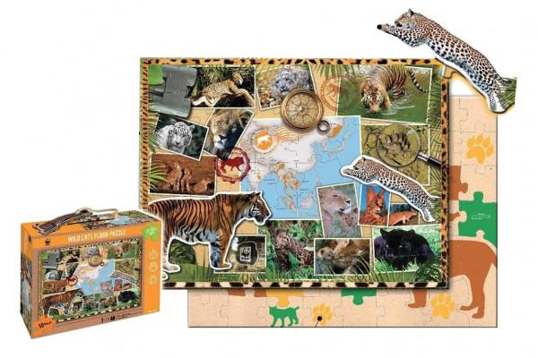 WWF - Puzzle - Bodenpuzzle - 48 Teile - Raubkatzen