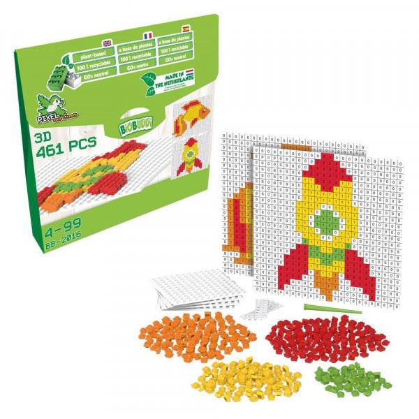 Pixel & Create Set - Rakete & Fisch