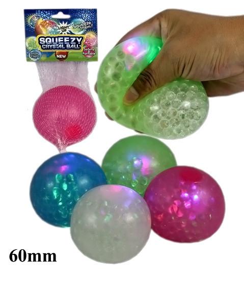 Squeezy Kristallball - mit Licht