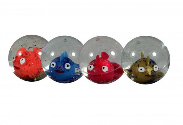 Glitzerball Fisch leuchtend